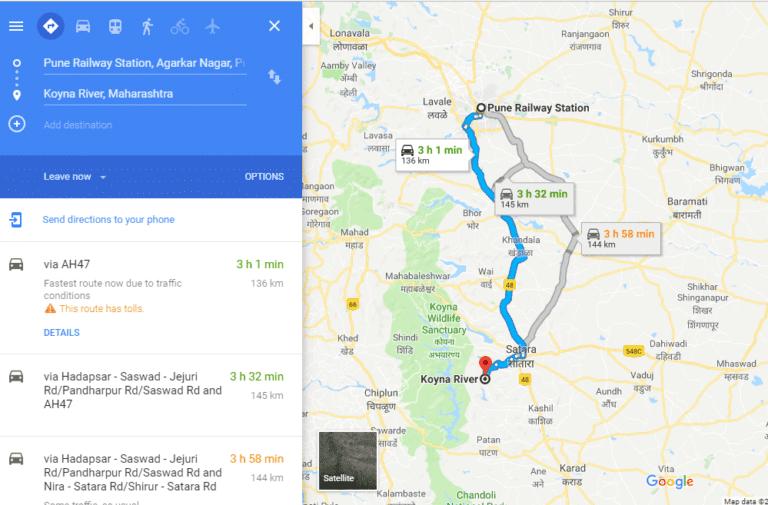 Holiday at Koynanagar map